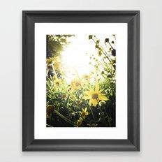 LUV IN THE SUN Framed Art Print