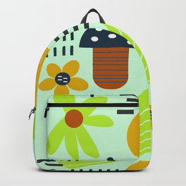 Colorful veggies and flowers Backpack