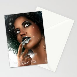 LICK ME - Black Stationery Cards