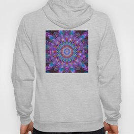 Abstract purple luxury Mandala Hoody