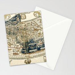 World Map 1482 Stationery Cards