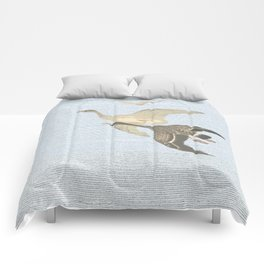 Nothing to match the flight of wild birds flying Comforters