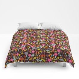 dark toadstools and mushrooms Comforters