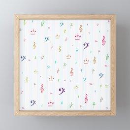 Music Falls Framed Mini Art Print