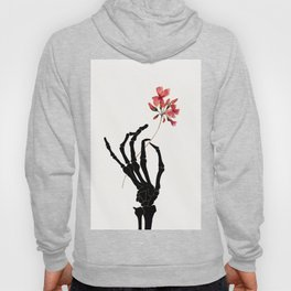 Skeleton Hand with Flower Hoody