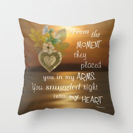 Snuggled Into My Heart Throw Pillow