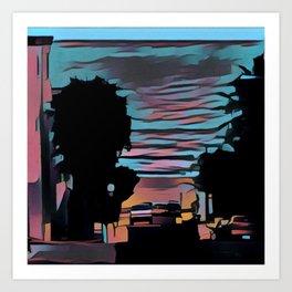 Coastal View Three Art Print