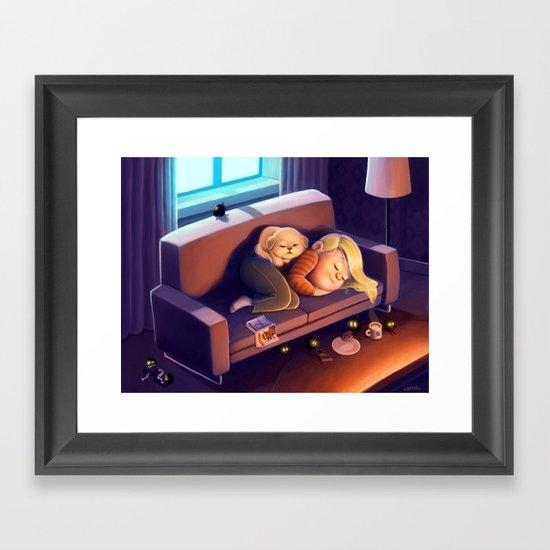 Nighty night Framed Art Print