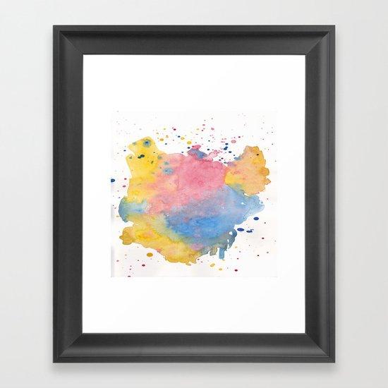 RAINBOW SPLATTER Framed Art Print