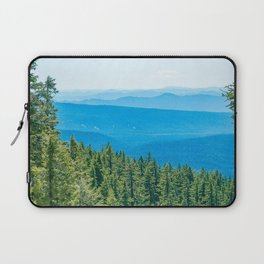 Artistic Brush // Grainy Scenic View of Rolling Hills Mountains Forest Landscape Photography Laptop Sleeve