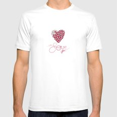 Love You . . . White MEDIUM Mens Fitted Tee
