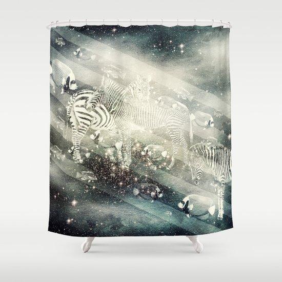 Zebra Way Shower Curtain