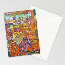 Purple Monster Mash Stationery Cards