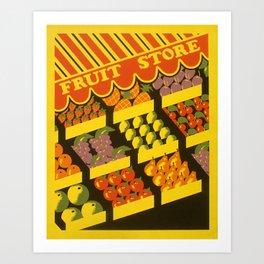 Fruit Store Art Print
