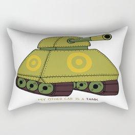 My other car is a tank Rectangular Pillow