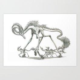 The Clawhoof Giraffagon Art Print