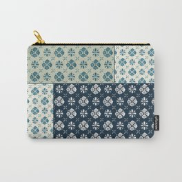 Vintage Tiles #society6 #pattern #indigo Carry-All Pouch