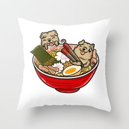 Shar Pei Ramen Throw Pillow