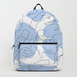 Abstract Hand Gestures Pattern Backpack