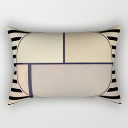 Toned Down - line graphic Rectangular Pillow