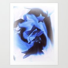 Starburts II cold blue Art Print