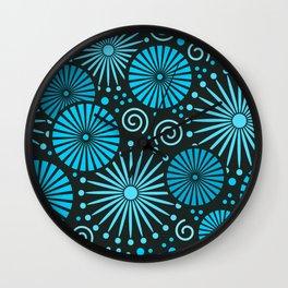 Blue retro abstract Wall Clock