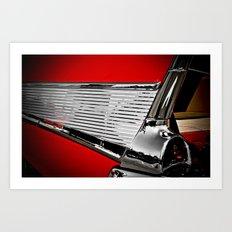 57' Chevy Fin Art Print