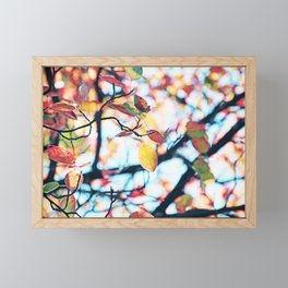 Happy Autumn Colors Framed Mini Art Print