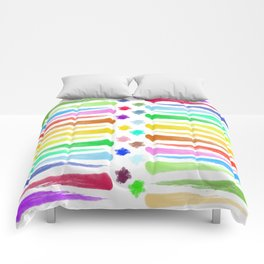 Rainbow Stripes Comforters