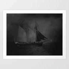 Traditional sails Art Print