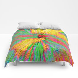 Explosion Of Color On Canvas Comforters