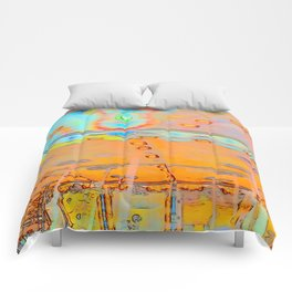 Merry-go-round in orange Comforters