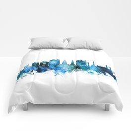 Charleston South Carolina Skyline Comforters