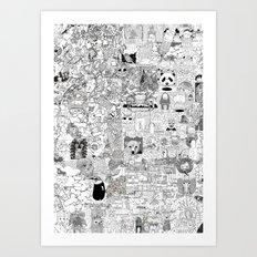 mashup Art Print