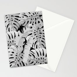 MONSTERA black & white modern botanical art Stationery Cards