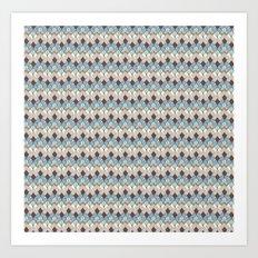 Retro Geometry Diamond Art Print
