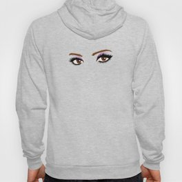 Brown female eyes with make up Hoody