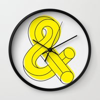 ampersand Wall Clocks featuring Ampersand by MADEYOUL__K