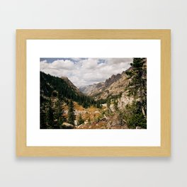 The View from Above 10,000 ft - Wyoming Wilderness Framed Art Print