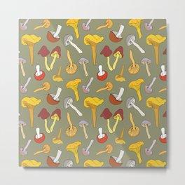 Wild Mushroom Toss in Dill Metal Print