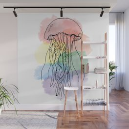 Rainbow Jellyfish Wall Mural