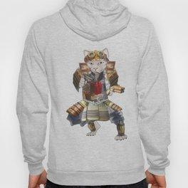 Steampunk samurai cat with 2 pistols Hoody