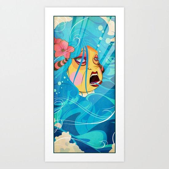siren's dance Art Print