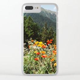 Mountain garden Clear iPhone Case