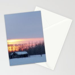 prairie morning Stationery Cards
