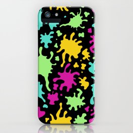 Colorful Paint Splatter Pattern iPhone Case