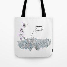 Geometric beard Tote Bag