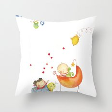 Baby surprise Throw Pillow