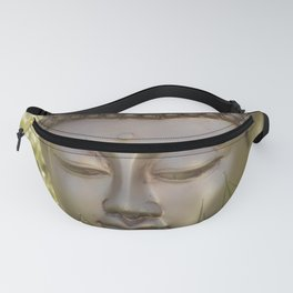 Buddha in the bright lights of morning dew Fanny Pack