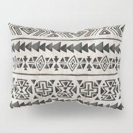 Boho Tribal Black & Cream, Geometric Print, Ink Tribal Decor Pillow Sham